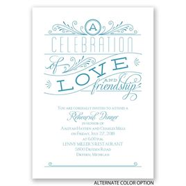 Love and Friendship - Rehearsal Dinner Invitation