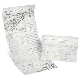 Silver Branches - Foil Seal and Send Invitation