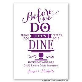 "Let""s Dine - Mini Rehearsal Dinner Invitation"
