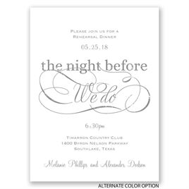 Elegant Swirls - Petite Rehearsal Dinner Invitation