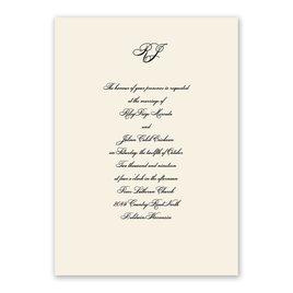 Royal Details - Champagne - Laser Cut Invitation