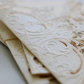 Royal Details - Ecru- Laser Cut Invitation