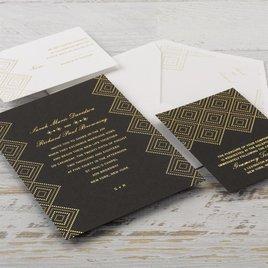Modern Deco - Foil Invitation
