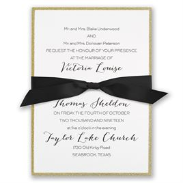 Golden Glow Invitation