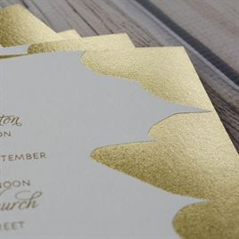 Gold Leaf - Foil Invitation