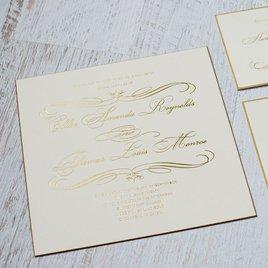 Gold Finish - Foil Invitation