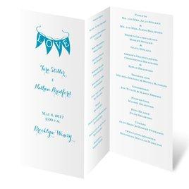 Wedding Programs: White Trifold Program