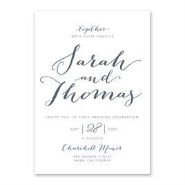 Thermography Wedding Invitations: Letter Love Invitation