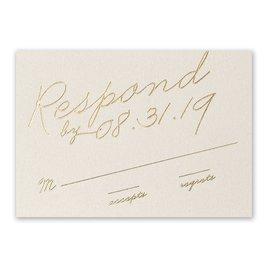 Exquisite Penmanship - Ecru Shimmer - Foil Response Card