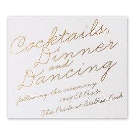 Exquisite Penmanship - White Shimmer - Foil Information Card