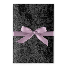 Ebony Vines - Hydrangea - Foil Invitation