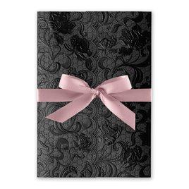 Ebony Vines - Rose - Foil Invitation