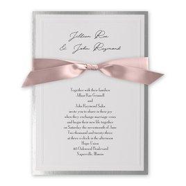 Wedding Invitations: Silver Sophisticated Border Invitation