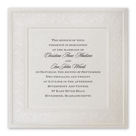 Thermography Wedding Invitations: Elegant Display Invitation