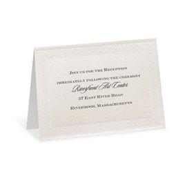 Wedding Reception and Information Cards: Elegant Display Reception Card