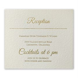 Layers of Luxury: Layers of Luxury Gold Foil Information Card