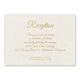 Natural Luxury - Foil Reception Card