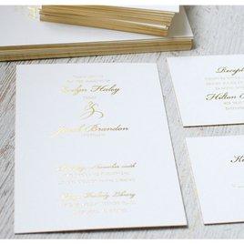 Gilded Beauty - Gold - Foil Invitation