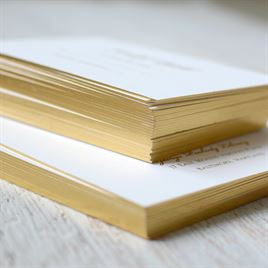 Gilded Beauty - Gold - Foil Reception Card