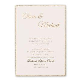 Wedding Invitations: Gold Lining Foil Invitation