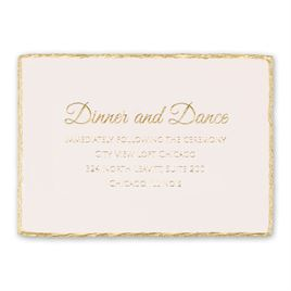 Gold Lining - Foil Reception Card