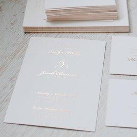 Gilded Beauty - Rose Gold - Foil Invitation