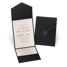 Total Elegance - Black Pocket Invitation