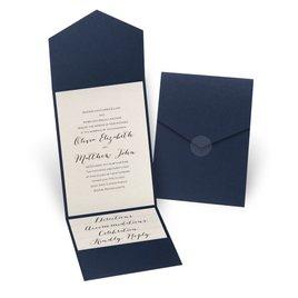 Total Elegance - Navy Pocket Invitation