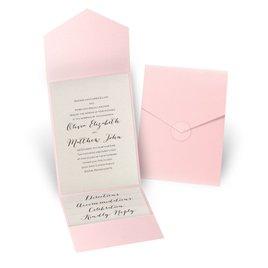 Total Elegance - Pink Pocket Invitation
