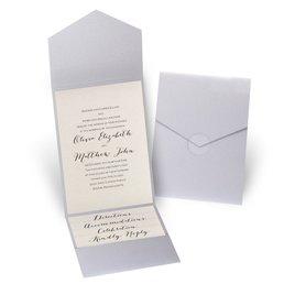 Total Elegance - Silver Shimmer Pocket Invitation