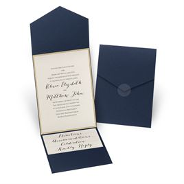 Wedding Invitations: Glitter Elegance Gold Glitter Invitation
