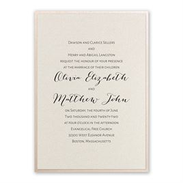 Layered Elegance - Blush Shimmer - Invitation