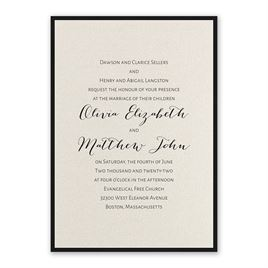Layered Elegance - Black - Invitation