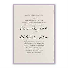 Layered Elegance - Lavender - Invitation