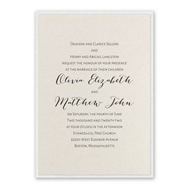 Layered Elegance - White Shimmer - Invitation