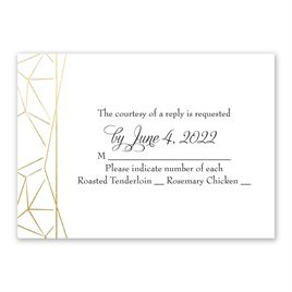 Clean Lines - Gold - Foil Response Card