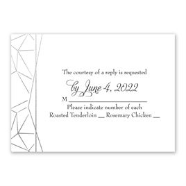 Clean Lines - Silver - Foil Response Card