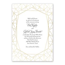 Clean Lines - Gold - Foil Invitation