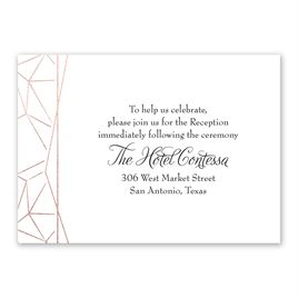 Clean Lines - Rose Gold - Foil Reception Card