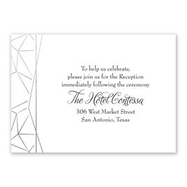 Clean Lines - Silver - Foil Reception Card