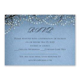 Wedding Response Cards: Fairytale Sky Foil Response Card