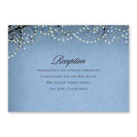 Wedding Reception and Information Cards: Fairytale Sky Foil Reception Card