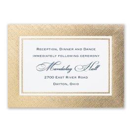 Wedding Reception and Information Cards: Golden Grandeur Reception Card