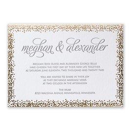 Speckled Elegance - Gold - Letterpress and Foil Invitation