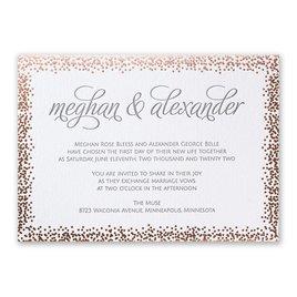 Speckled Elegance - Rose Gold - Letterpress and Foil Invitation