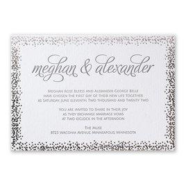 Speckled Elegance - Silver - Letterpress and Foil Invitation