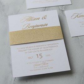 Glittering Glamour - Gold - Foil Invitation