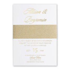 Wedding Invitations: Glittering Glamour Gold Foil Invitation