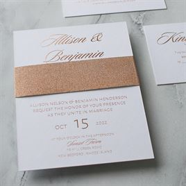 Glittering Glamour - Rose Gold - Foil Invitation
