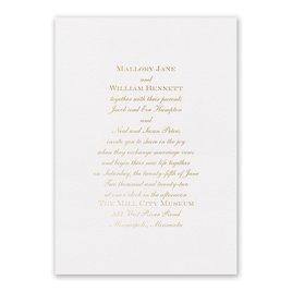 Wedding Invitations: Flawless Foil Invitation